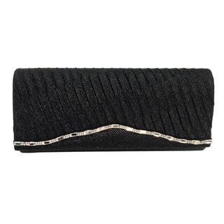 Alfa Elegant Evening Black/Gold/Silver Satin/Faux Leather Clutch Handbag|https://ak1.ostkcdn.com/images/products/13082348/P19817251.jpg?impolicy=medium