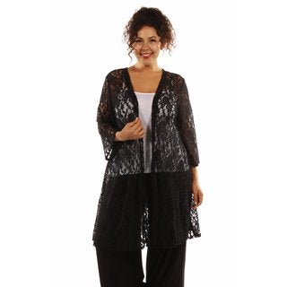 Elegant Lace Plus Size Cardigan Shrug