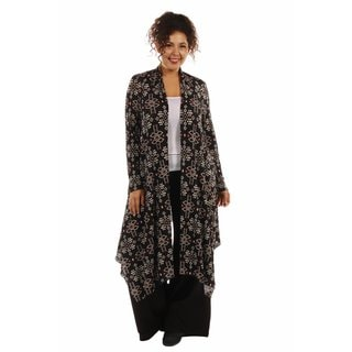 24/7 Comfort Apparel Women's Sexy Sizzle Patterned Plus Sized Cardigan Shrug
