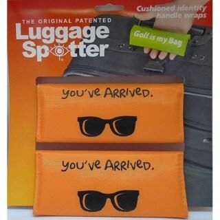 YOU'VE ARRIVED Bright Orange Original Patented Luggage Spotter (Set of 2)