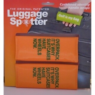 Overpack It's Why Suitcases Have Wheels Now Bright Orange Original Patented Luggage Spotter