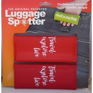 TRAVEL EXPLORE LIVE Bright Red Original Patented Luggage Spotter (Set of 2)