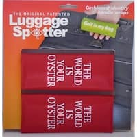THE WORLD IS YOUR OYSTER Bright Red Original Patented Luggage Spotter (Set of 2)