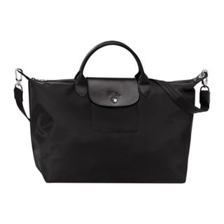 Longchamp Le Pliage Neo Black Canvas Tote Bag