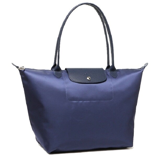a278e948deb7 Shop Longchamp Le Pliage Neo Navy Blue Nylon Tote Bag - Free ...