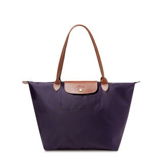 Longchamp Le Pliage Bilberry Purple Nylon Large Foldable Tote Bag
