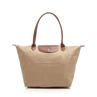Longchamp Le Pliage Beige Nylon Large Foldable Tote Bag