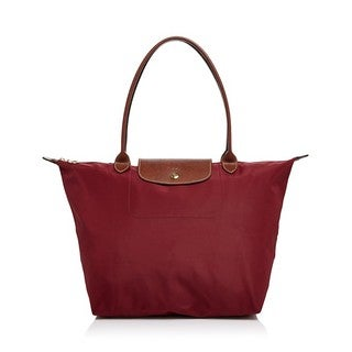 Longchamp Le Pliage Red Nylon Large Foldable Tote Bag