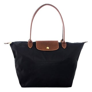 Longchamp Le Pliage Large Black Foldable Tote Bag