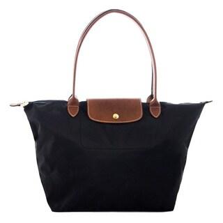 Longchamp Le Pliage Large Black Foldable Tote Bag