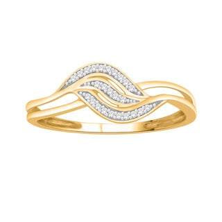 Trillion Designs 14k Yellow Gold over Silver Diamond Accent Heart Engagement Ring (H-I, I1-I2)
