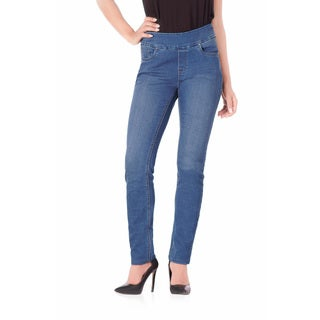 Bluberry Women's Flora Blue Denim Medium Slim-leg Pants (Option: 35)