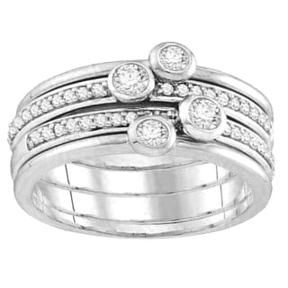 Elora 10k Gold 1/2ct TDW Round White Diamond Fashion Right-hand Ring (H-I, I1-I2)