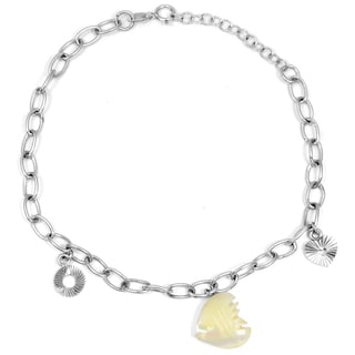 Orchid Jewelry 925 Sterling Silver 2 Carat Mother of Pearl Bracelet