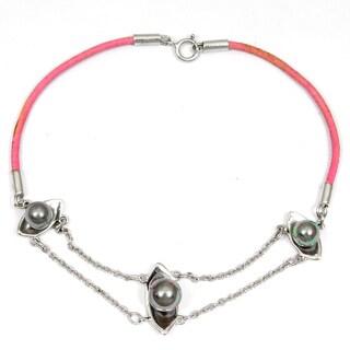 Orchid Jewelry 925 Sterling Silver 2 4/5 Carat Pearl Bracelet