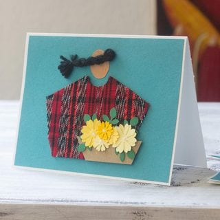 Set of 4 Handcrafted Paper Reed 'Antigua Florist' Greeting Cards (Guatemala)