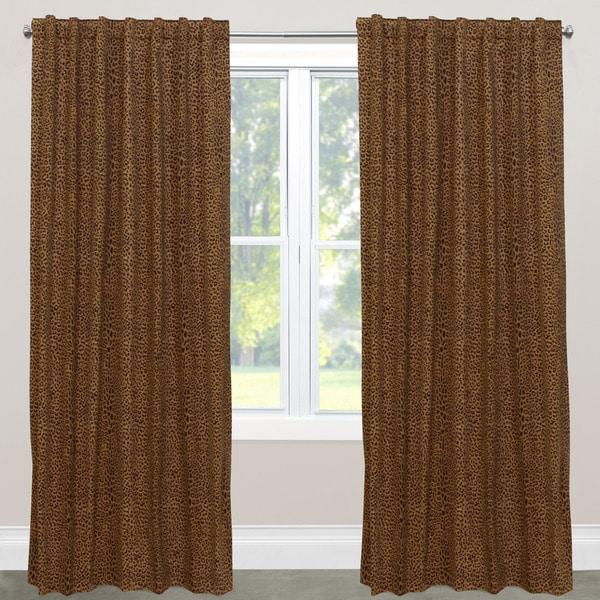 Skyline Furniture Cheetah Earth Cotton Blackout Window Curtain Panel