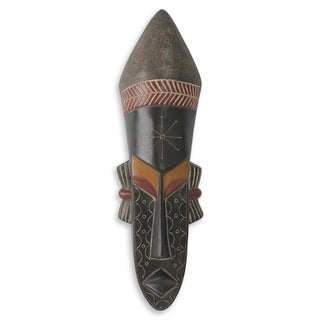 Handcrafted Sese Wood 'Woman of Beauty' African Wall Mask (Ghana)