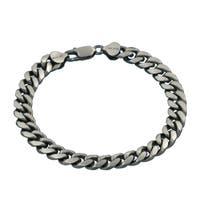 Sterling Silver 7-millimeter Miami Curb bracelet
