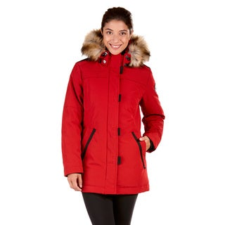 Women's Polyester and Cotton Down Plus-size Jacket