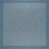 Seros Modern Denim Blue Indoor/Outdoor Area Rug - 7'3 x 7'2