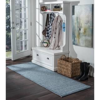 Seros Modern Denim Blue Polypropylene Indoor/Outdoor Area Rug (2'6' x 11') https://ak1.ostkcdn.com/images/products/13083526/P19818106.jpg?impolicy=medium