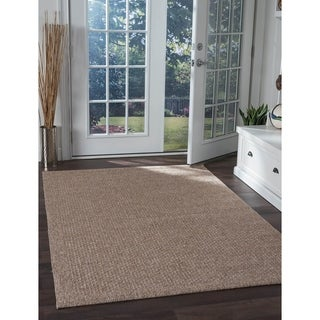 Beige Seros Modern Indoor/Outdoor Area Rug - 7'6 x 10'3