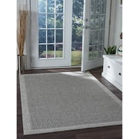 Seros Modern Charcoal Indoor/Outdoor Area Rug - 8'10 x 11'11