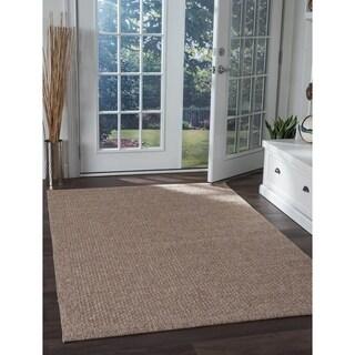 Seros Modern Beige Polypropylene Indoor/Outdoor Area Rug (5' x 7'3')