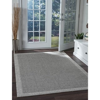 Seros Modern Charcoal Indoor/Outdoor Area Rug - 4'9 x 7'