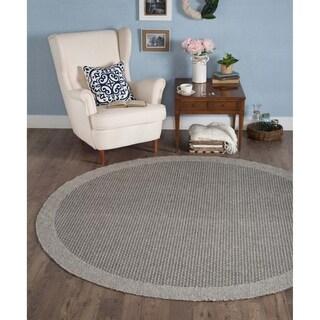 Seros Round Modern Charcoal Indoor/Outdoor Area Rug - 7'3 round