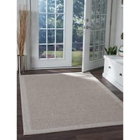Seros Modern Taupe Indoor/Outdoor Area Rug - 7'2 x 10'2