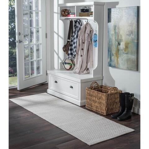Seros Modern Cream Indoor/Outdoor Rug Runner - 2'4 x 7'2