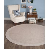 Seros Modern Taupe Indoor/Outdoor Area Rug - 7'3
