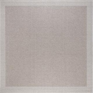 Taupe Seros Modern Indoor/Outdoor Area Rug (7'6 x 7'6)