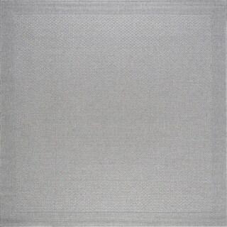 Alise Rugs Seros Grey Polypropylene Indoor/Outdoor Area Rug (7'6 x 7'6)