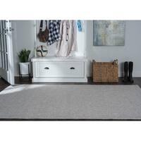 Seros Modern Grey Indoor/Outdoor Area Rug - 8'10 x 11'11
