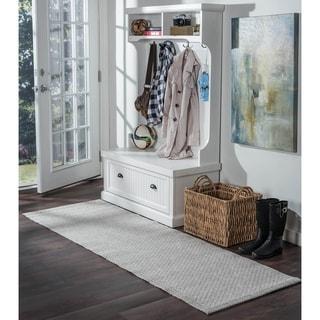 Seros Modern Grey Polypropylene Indoor/Outdoor Area Rug (2'6 x 7'3)
