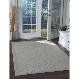 Seros Modern Grey Indoor/Outdoor Area Rug - 4'9 x 7'