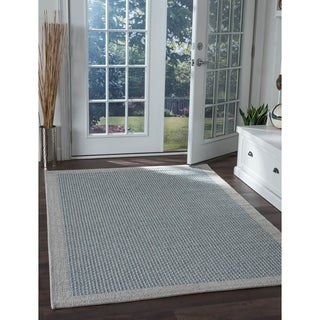 Seros Modern Light Blue Indoor/Outdoor Area Rug - 4'9 x 7'