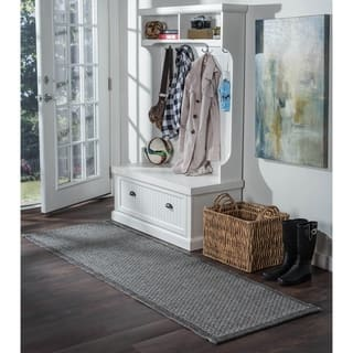 Seros Modern Black Polypropylene Indoor/Outdoor Area Rug (2'6' x 11') https://ak1.ostkcdn.com/images/products/13083633/P19818167.jpg?impolicy=medium