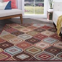 Majolica Multicolor Contemporary Nylon Area Rug (7'6 x 9'10')