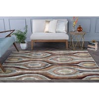 Alise Caprice Contemporary Multicolor Area Rug (5'3 x 7'3)