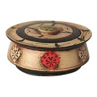 Handcrafted Sese Wood 'Ashanti Queen' Decorative Box (Ghana)