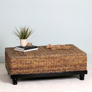 East At Main's Arbor Brown Abaca Textured Coffee Table