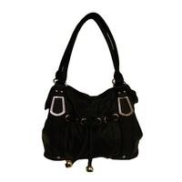 Shop Nikky Elida Black Faux Leather Hobo Handbag - Free Shipping On ... 7b68bc07a9