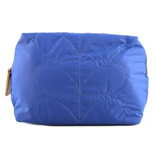 Orla Kiely Women's Blue Nylon ETC Quilted Wash Bag