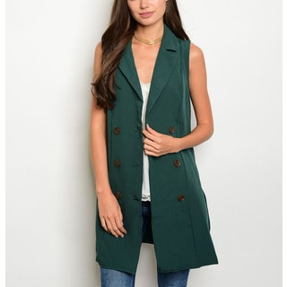 JED Women's Notched Collar Sleeveless Dressy Vest