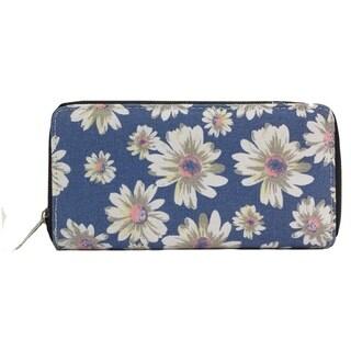 Alfa Traditional Blue Fabric Daisy Wallet