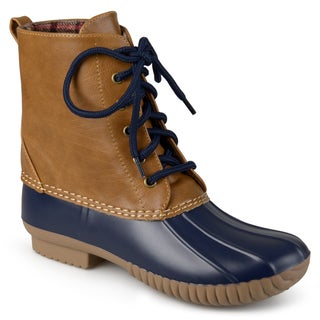Journee Collection Women's 'Rada' Lace-up Duck Boots